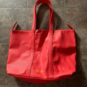 Kenzo  Orange Tote Bag